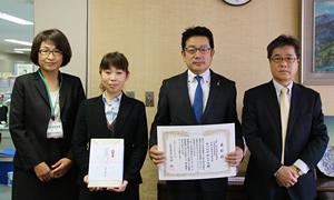 「均等・両立推進企業表彰 愛媛労働局長優良賞」受賞