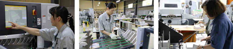 佐川印刷で働く女性