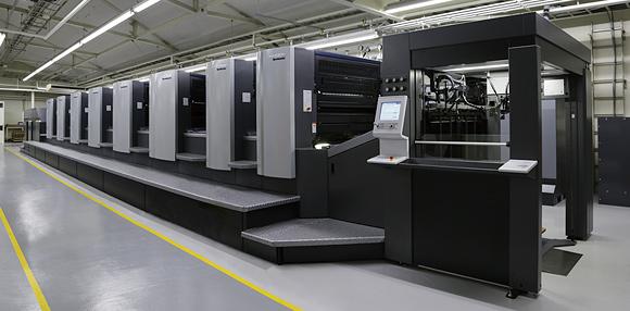 松山工場印刷機